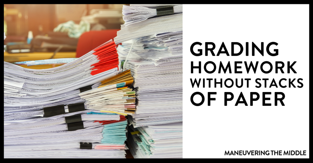 Grading math homework doesn't have to be a hassle. Read how to grade and organize it efficiently with a homework agenda. | maneuveringthemiddle.com