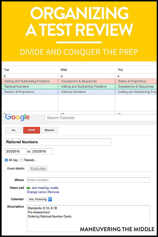 Is it possible to divide and conquer the work of preparing a large test review? Four time-saving ideas to cut back on the work load. |maneuveringthemiddle.com
