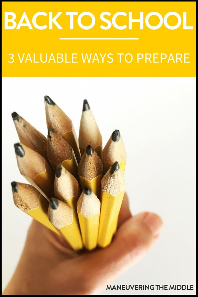 The to-do lists are insane, the expectations are high. There is a lot of work involved in back to school prep, so today I am sharing a few things to relieve the pressure. | maneuveringthemiddle.com