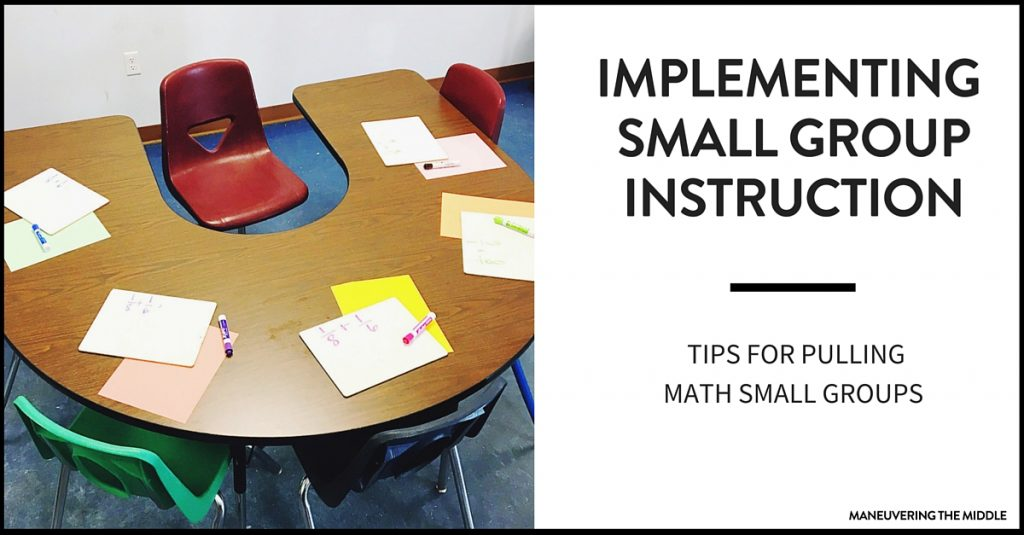 It is possible to use math small group instruction in middle school with a bit of upfront planning! Tips for implementation and ideas to get your math small groups running smoothly.