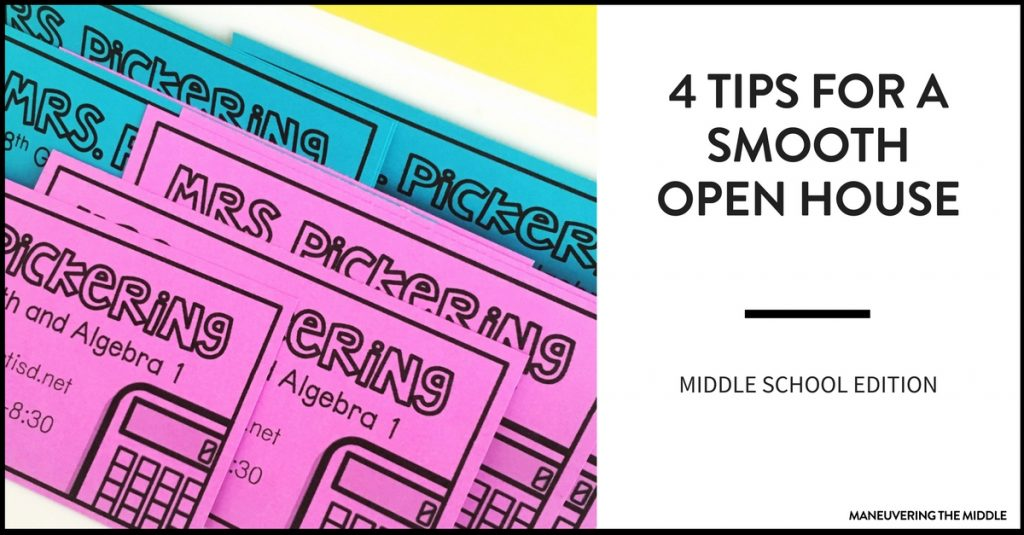 Getting ready for open house in middle school can be quite hectic. These 4 tips will help you have a smooth and productive open house.