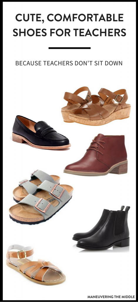 Finding comfortable shoes for teachers can be a huge dilemma! 5 teacher approved shoes that are not only comfortable, but stylish! | maneuveringthemiddle.com