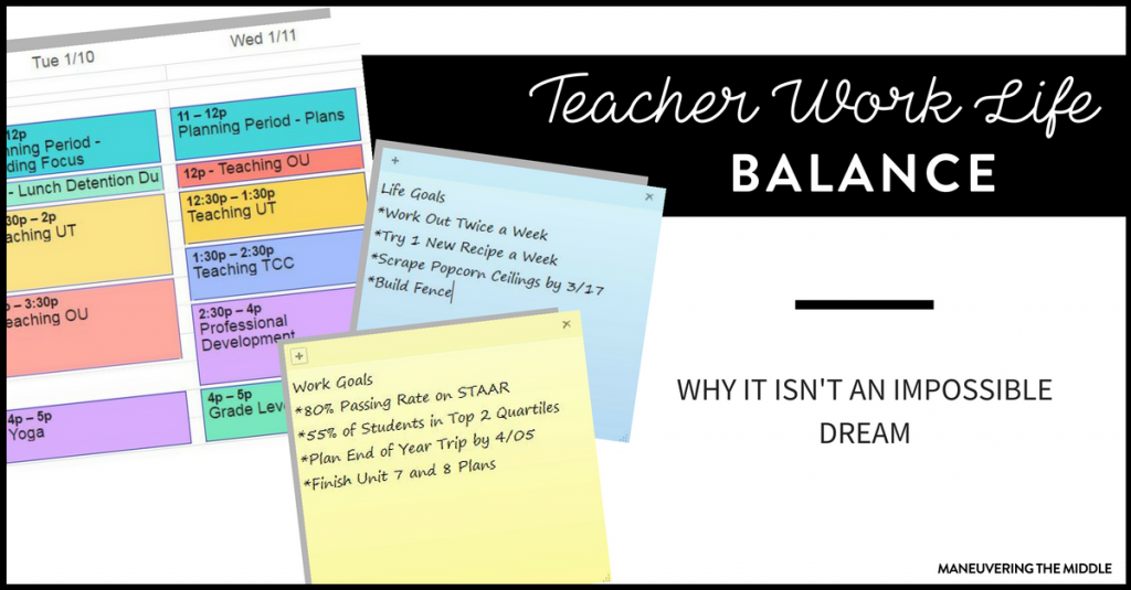 Teacher. Work. Life. Balance. The struggle for work life balance for teachers is real, as teaching can be a 24/7 job. Tips for how to minimize your hours at school.