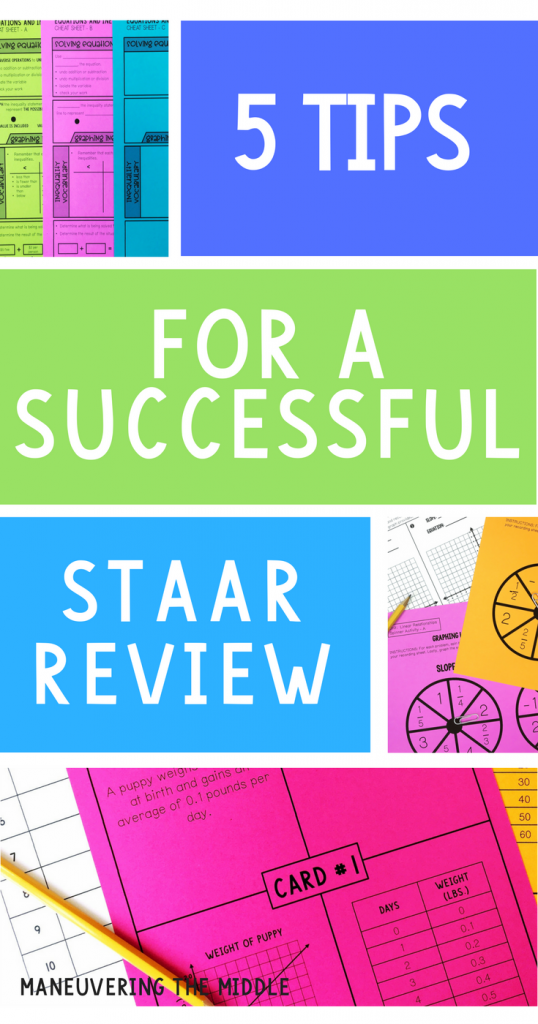 Ideas to for organizing and implementing a successful STAAR review - Make test prep something your students look forward to participating in. | maneuveringthemiddle.com