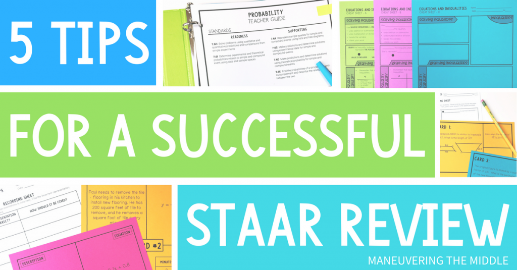 Ideas to for organizing and implementing a successful STAAR review - Make test prep something your students look forward to participating in.