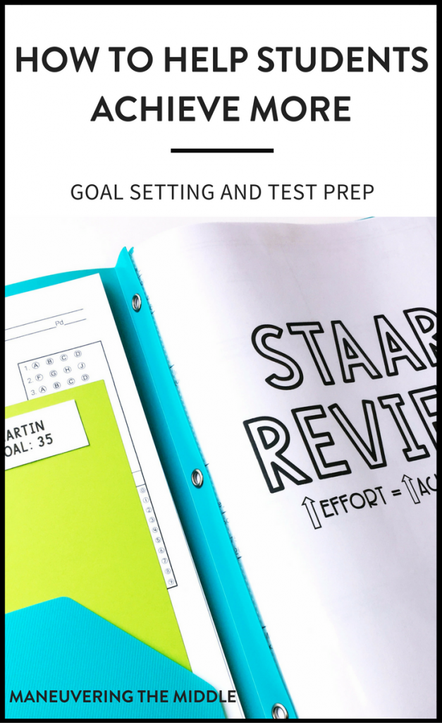 How to use goal setting and test prep to help students achieve more throughout the review process. Keeping students engaged and persevering with goals.