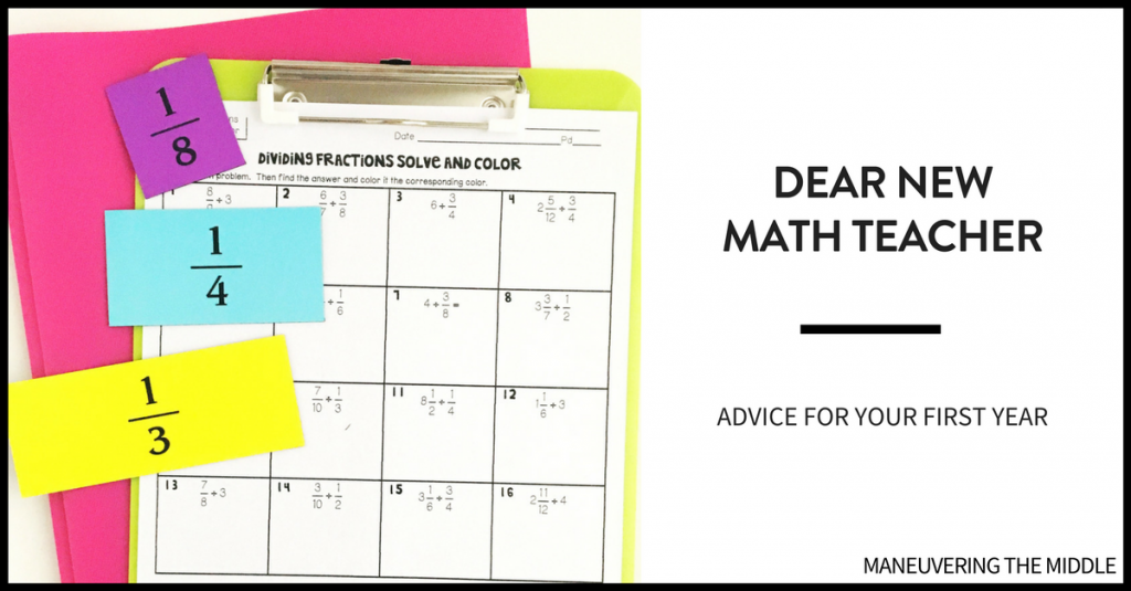 Tips for a new math teachers : the importance of staying positive, making mistakes, and building number sense - 3 practical tips for a new math teacher.