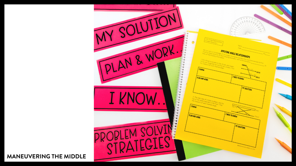 Problem solving strategies are a must teach skill. Today I analyze strategies that I have tried and introduce the strategy I plan to use this school year. | maneuveringthemiddle.com