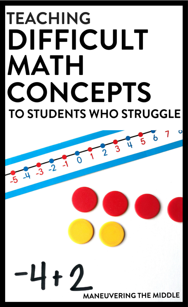 Using the concrete representational abstract sequence (CRA) is a great way to fill in gaps, teach difficult math concepts, and build a strong math foundation.   maneuveringthemiddle.com