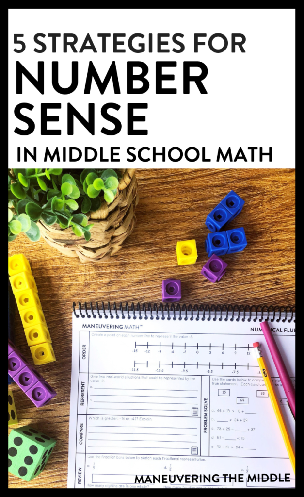 Are your students lacking number sense? 5 strategies for building number sense in middle school math | maneuveringthemiddle.com