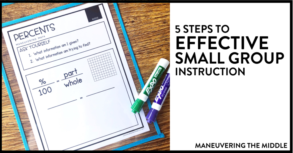 Small group instruction can seem complicated and like a lot of work. Read these 5 steps to simple and effective small group instruction.