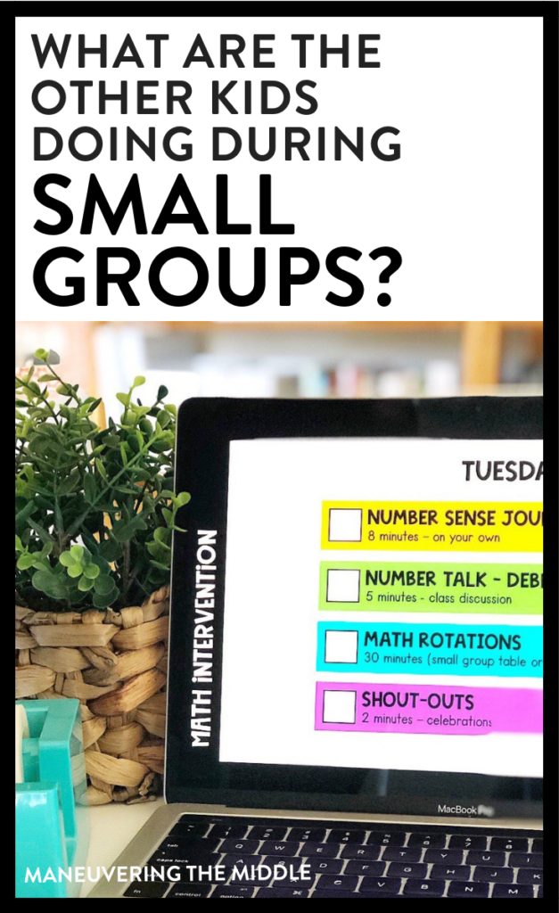 Tips and ideas for managing small group instruction to keep your students engaged while you are working with a small group!