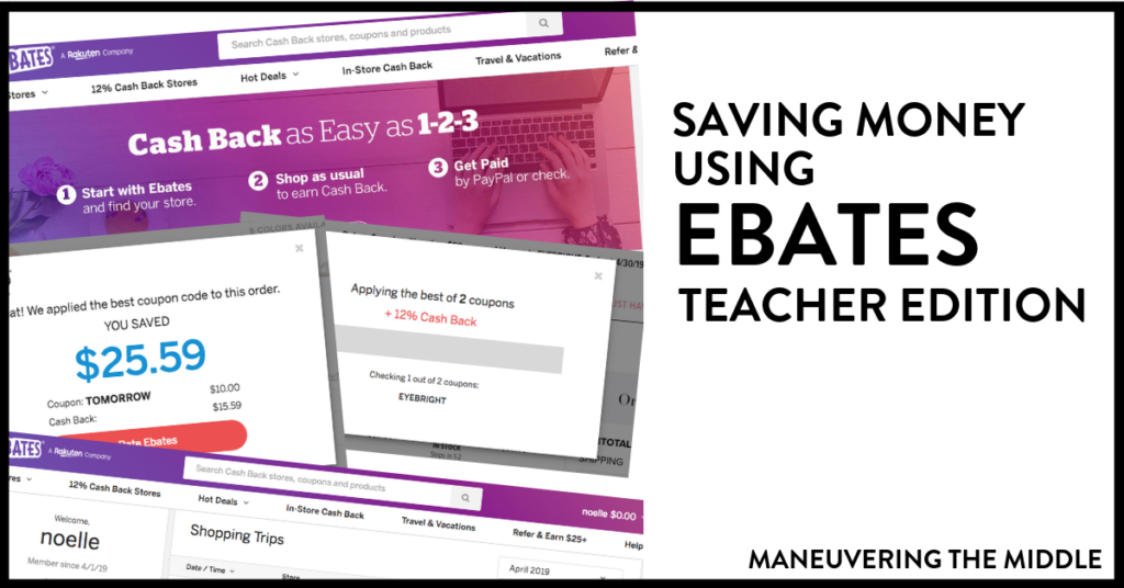 Ebates is an easy way to stretch your teacher budget and save money (thru cash back) on items you were already planning to purchase.