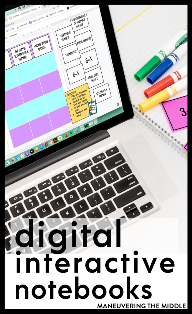 Are digital interactive notebooks right for you and your students? Check out our thoughts for this new teaching trend on the blog. | maneuveringthemiddle.com