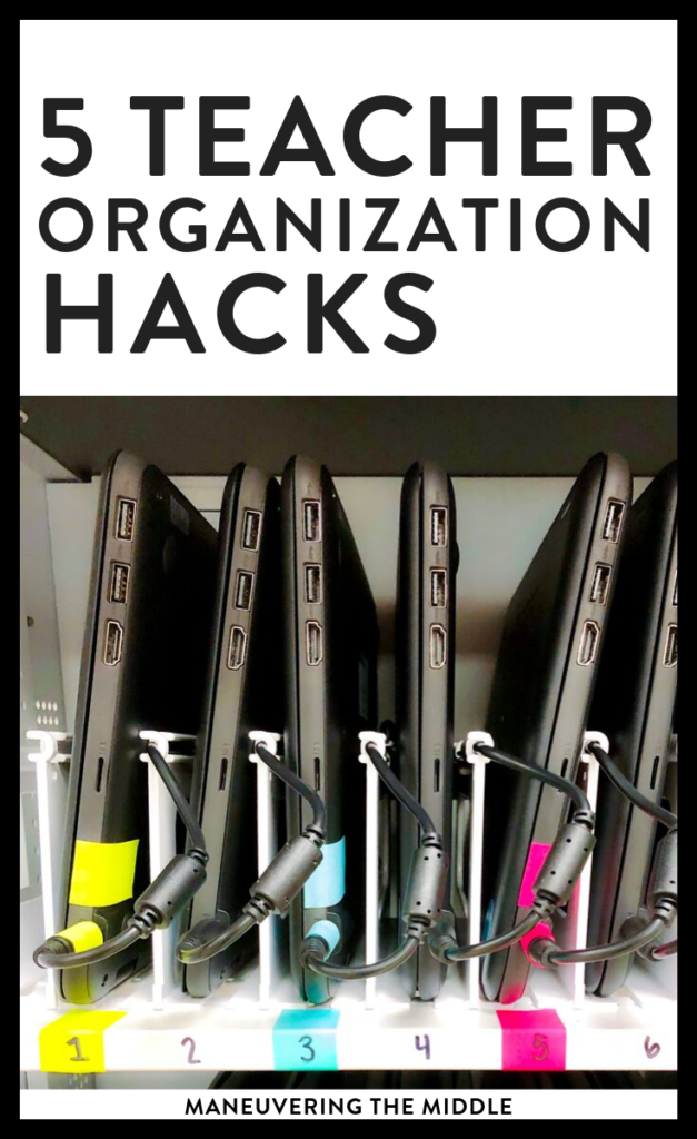 Can teachers ever be too organized? Here are 5 organization ideas that you could try implementing today in your middle school classroom. | maneuveringthemiddle.com