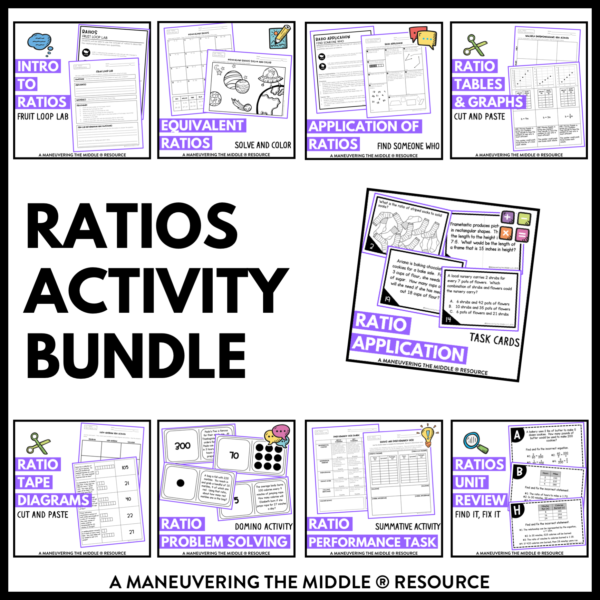 Ratios and Proportions Activities