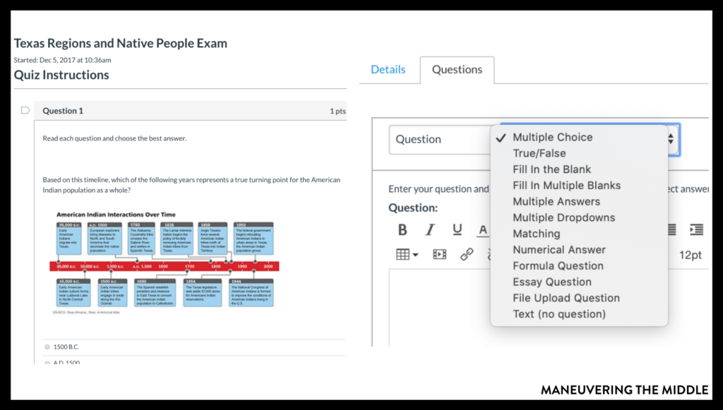 Canvas is a learning management software that allows each student to access material and submit assignments.Read more tips and tricks here! | maneuveringthemiddle.com