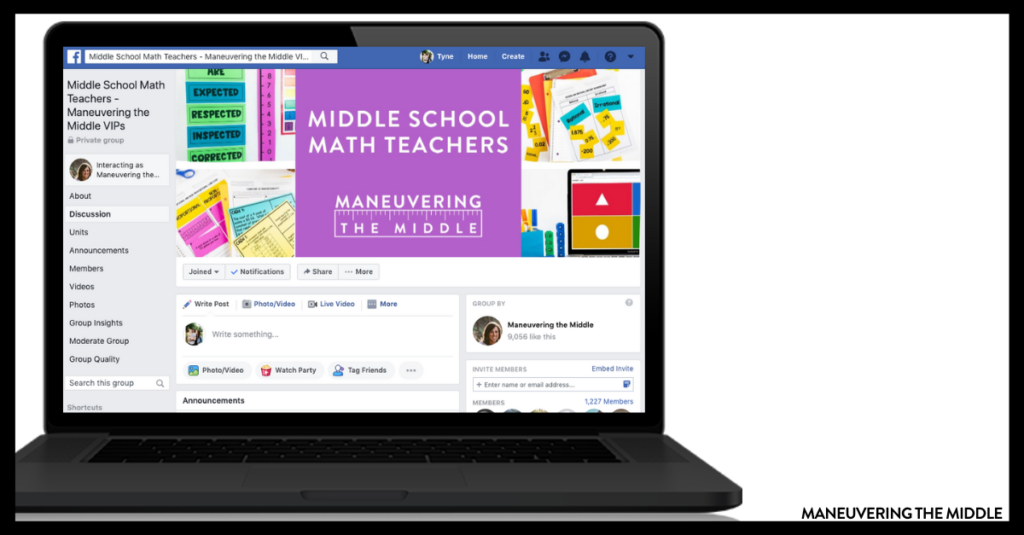 Teachers can benefits from online collaboration for both their students and themselves. Join our Facebook group to learn more. | maneuveringthemiddle.com