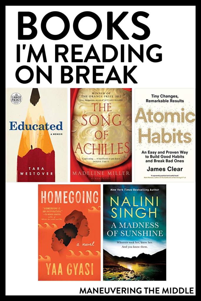 Holiday breaks are great for reading! Check out what books I am going to read over this Christmas break.   maneuveringthemiddle.com