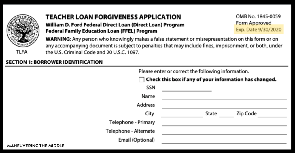 After 5 years at a low income school, I was able to have a portion of my student loans forgiven. Learn about applying for teacher student loan forgiveness. | maneuveringthemiddle.com