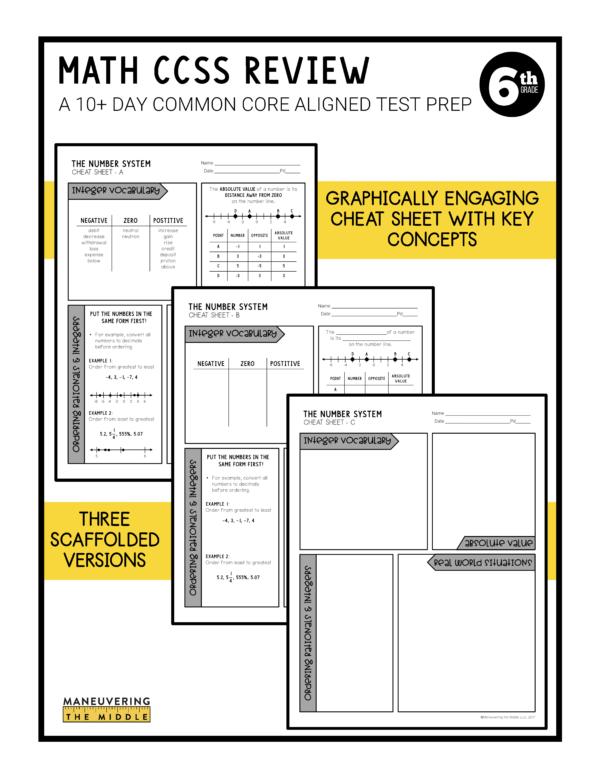 CCSS 6th Test Prep 3