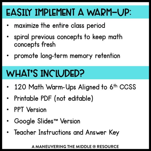 Math Warm-Up 1
