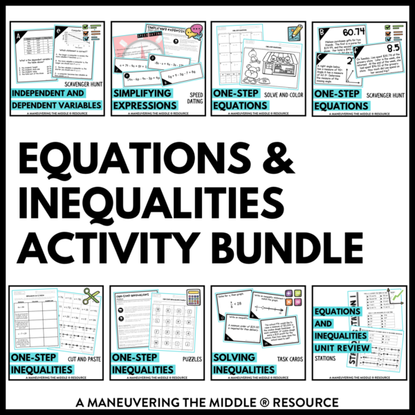 Equations and Inequalities Activities