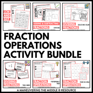 fraction operations activities
