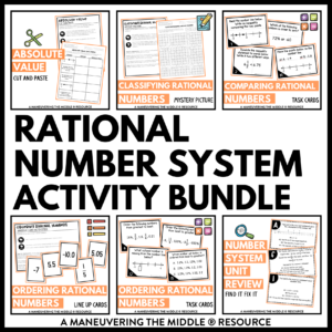 Rational Number System Activities