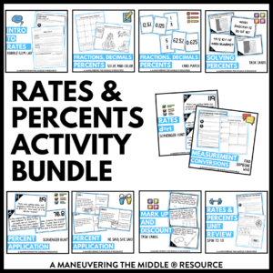 Rates and Percents Activities