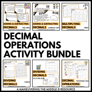 Decimal Operations Activities