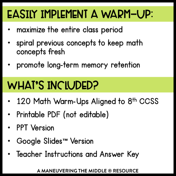 8th grade ccss daily math warm-ups 1