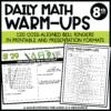 8th grade ccss daily math warm-ups