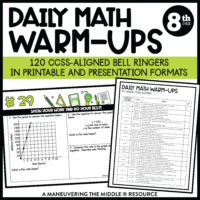 8th grade ccss daily math warm-ups