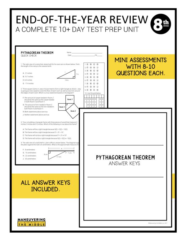 8th grade ccss test prep review 4