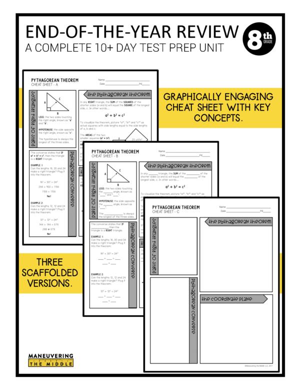 8th grade ccss test prep review 3
