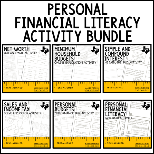 Personal Financial Literacy Activities