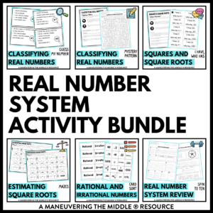 ccss 8th real number system activities