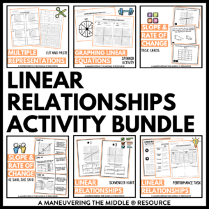 ccss 8th linear relationships activities