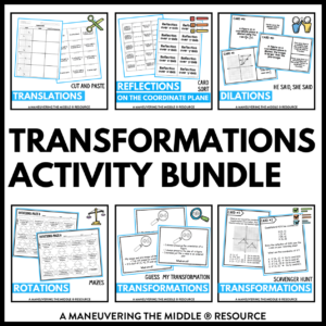 ccss 8th transformations activities
