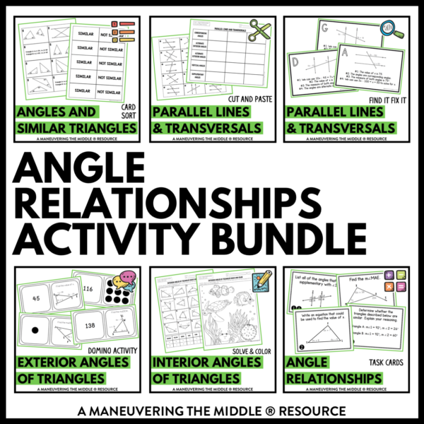 ccss 8th angle relationships activities