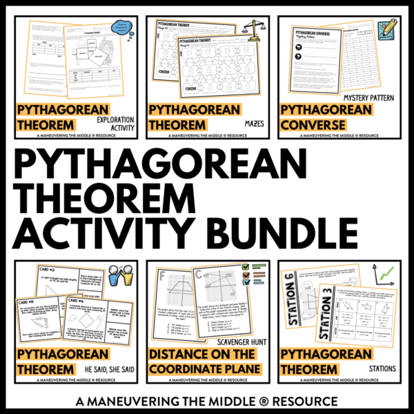 ccss 8th pythagorean theorem activities