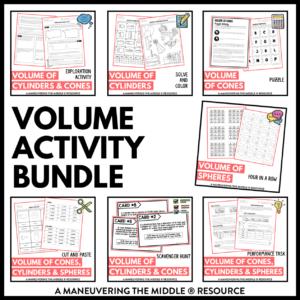 CCSS 8th Volume Activities