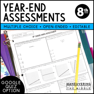 8th grade ccss year-end assessments