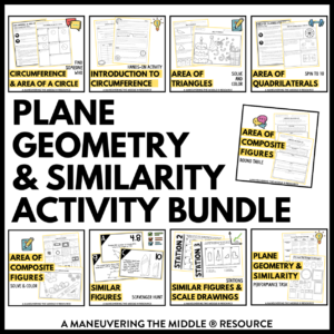 Plane Geometry and Similarity Activities