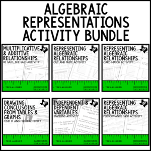 Algebraic Representations Activities