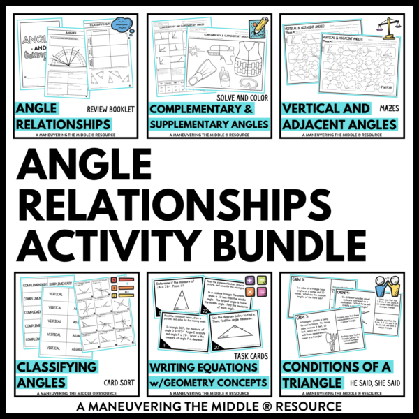 Angle Relationships Activities