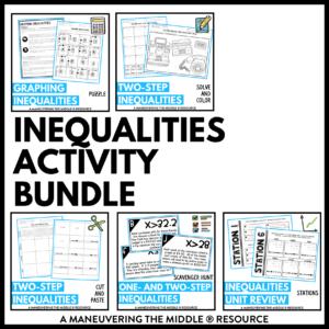 Inequalities Activities