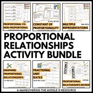 Proportional Relationships Activities