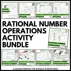 Rational Number operation activity bundle